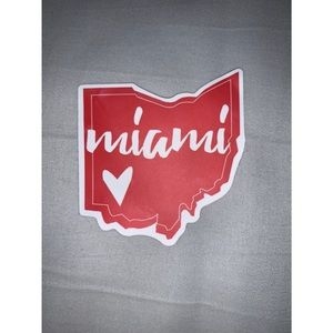 Red Miami Sticker ❤️